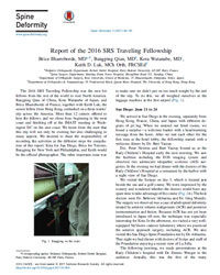 SRS Traveling Fellowship Report 2016